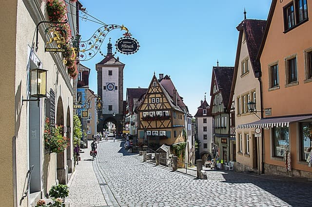 Rothenburg ob der Tauber Straßenszene